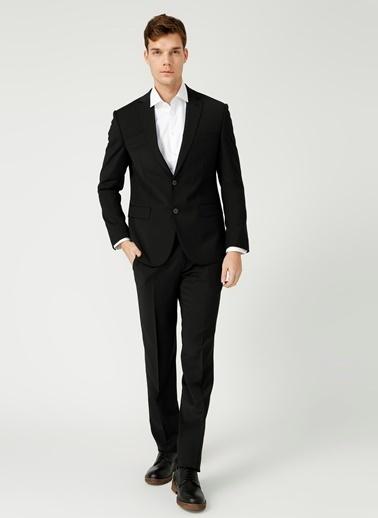 Kip Kip Fitted Düz Siyah Takım Elbise Siyah